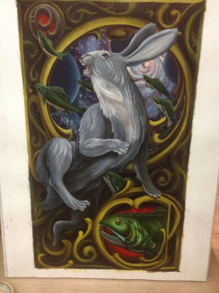 Watercolor Hare